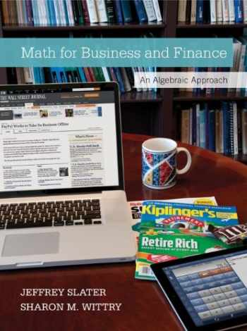 9780077723422-0077723422-Math for Business and Finance with Connect Access Card