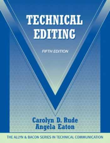 Technical Editing (5th Edition) (The Allyn & Bacon Seriesin Technical Communication)