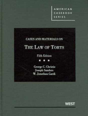 9780314266941-0314266941-Cases and Materials on the Law of Torts, 5th (American Casebook Series)