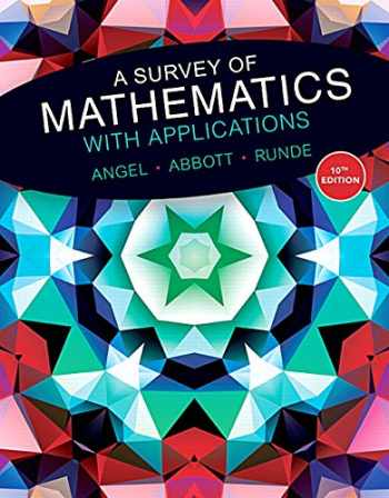 9780134115764-0134115767-Survey of Mathematics with Applications, A,with MyMathLab Student Access Card (10th Edition)