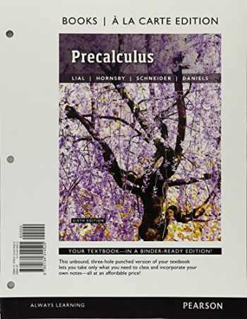 9780134314525-0134314522-Precalculus, Books a la Carte Edition (6th Edition)