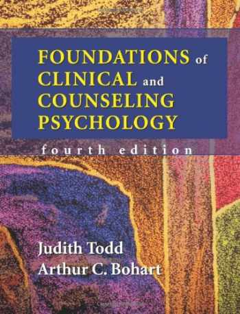 9781577664109-1577664108-Foundations of Clinical and Counseling Psychology
