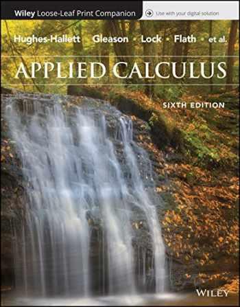 9781119408901-1119408903-Applied Calculus, 6e WileyPLUS + Loose-leaf