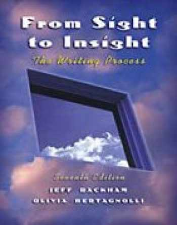 9780838407004-0838407005-From Sight to Insight: The Writing Process (with InfoTrac)