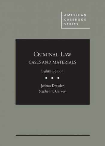 9781642427820-1642427829-Cases and Materials on Criminal Law, 8th - CasebookPlus (American Casebook Series)