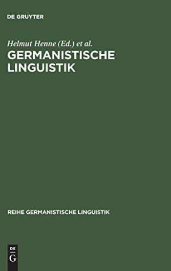 9783484312401-3484312408-Germanistische Linguistik (Reihe Germanistische Linguistik) (German Edition)