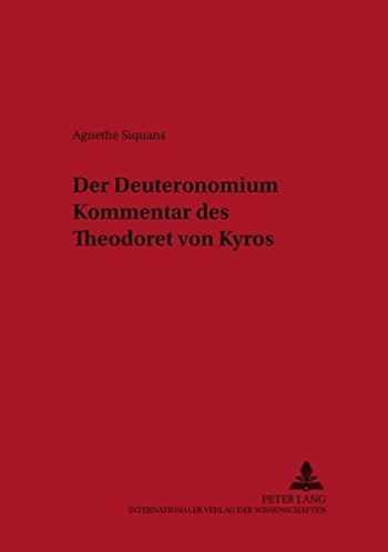 9783631388686-3631388683-Der Deuteronomiumkommentar des Theodoret von Kyros (Österreichische Biblische Studien) (German Edition)