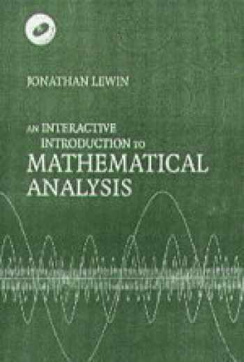 9780521017183-0521017181-An Interactive Introduction to Mathematical Analysis Paperback with CD-ROM