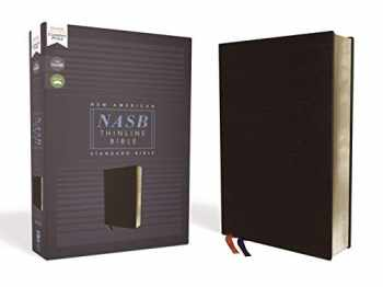 9780310450931-0310450934-NASB, Thinline Bible, Bonded Leather, Black, Red Letter, 1995 Text, Comfort Print
