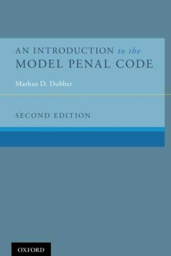 9780190243050-0190243058-An Introduction to the Model Penal Code