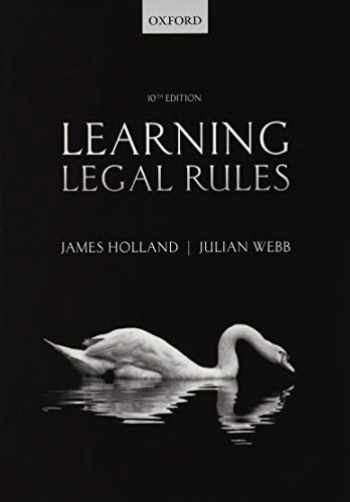 9780198799900-019879990X-Learning Legal Rules: A Students' Guide to Legal Method and Reasoning