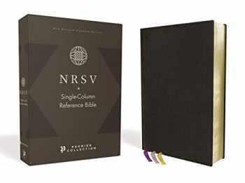 9780310454939-031045493X-NRSV, Single-Column Reference Bible, Premium Goatskin Leather, Black, Premier Collection, Comfort Print