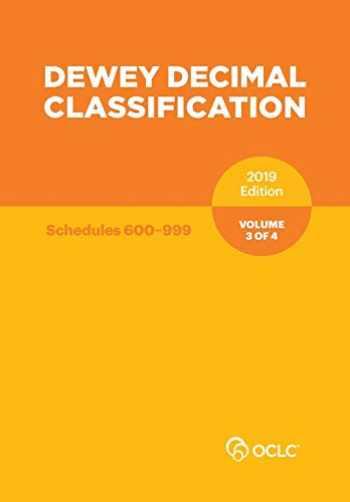 9781556530838-1556530838-Dewey Decimal Classification, January 2019, Volume 3 of 4