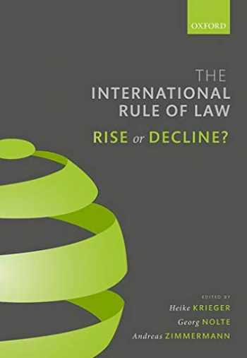 9780198843603-0198843607-The International Rule of Law: Rise or Decline?