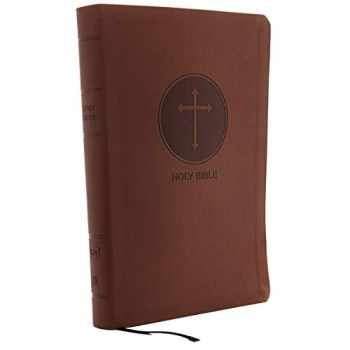 9780785215400-0785215409-KJV, Reference Bible, Center-Column Giant Print, Leathersoft, Brown, Red Letter, Comfort Print: Holy Bible, King James Version