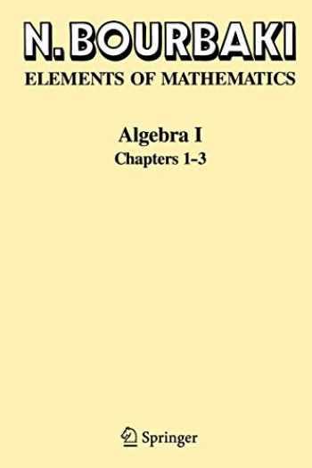 9783540642435-3540642439-Algebra I: Chapters 1-3