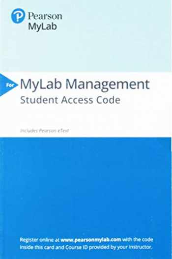 9780135835647-013583564X-2019 MyLabManagement with Pearson eText --Standalone Access Card-- for Essentials of Organizational Behavior