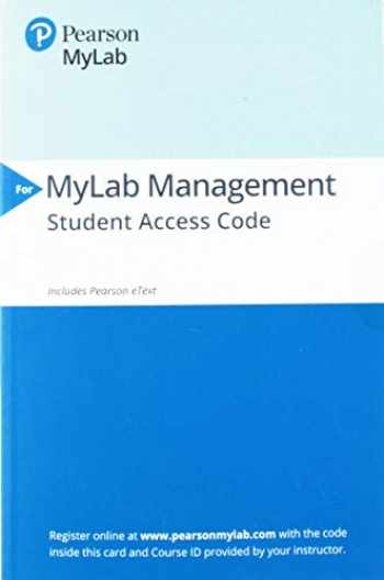 9780135183878-0135183871-MyLab Management with Pearson eText -- Access Card -- for Fundamentals of Management