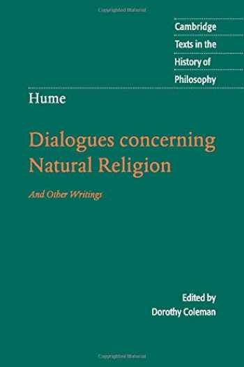 9780521603591-0521603595-Hume: Dialogues Concerning Natural Religion: And Other Writings (Cambridge Texts in the History of Philosophy)
