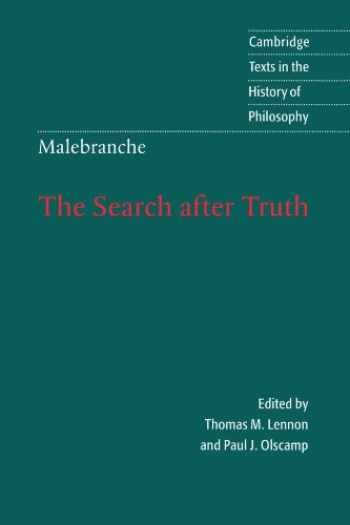 9780521589956-0521589959-The Search after Truth: With Elucidations of The Search after Truth (Cambridge Texts in the History of Philosophy)