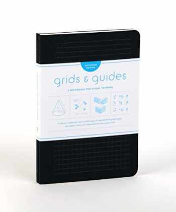"""9781616898663-1616898666-Grids & Guides Softcover (Black): Two Notebooks for Visual Thinkers (classic black notebooks, 5.75 x 8.25"""", with grid paper in eight patterns, ideal for designers, architects, and creatives)"""