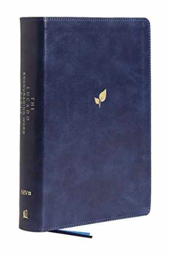 9780718099312-0718099311-NIV, Lucado Encouraging Word Bible, Leathersoft, Blue, Comfort Print: Holy Bible, New International Version