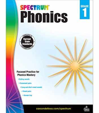 9781483811826-1483811824-Spectrum Phonics 1st Grade Workbook—State Standards for Grade 1 Phonics, Vowel and Consonant Practice With Answer Key for Homeschool or Classroom (160 pgs)