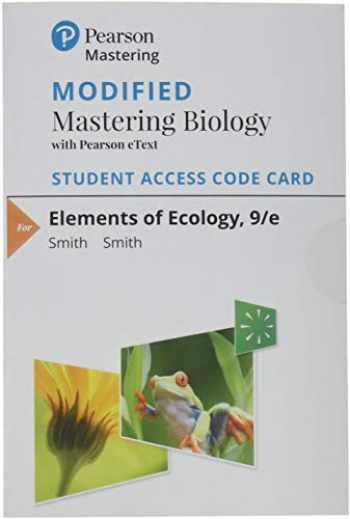 9780133899245-0133899241-Modified Mastering Biology with Pearson eText -- Standalone Access Card -- for Elements of Ecology