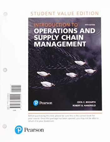 9780134855455-0134855450-Introduction to Operations and Supply Chain Management, Student Value Edition Plus MyLab Operations Management with Pearson eText -- Access Card Package (5th Edition)