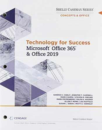 9780357268186-0357268180-Bundle: Technology for Success and Shelly Cashman Series Microsoft Office 365 & Office 2019, Loose-leaf Version + SAM 365 & 2019 Assessments, ... Access Card with Access to eBook for 1 term