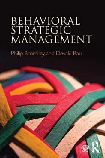 9781138292369-1138292362-Behavioral Strategic Management
