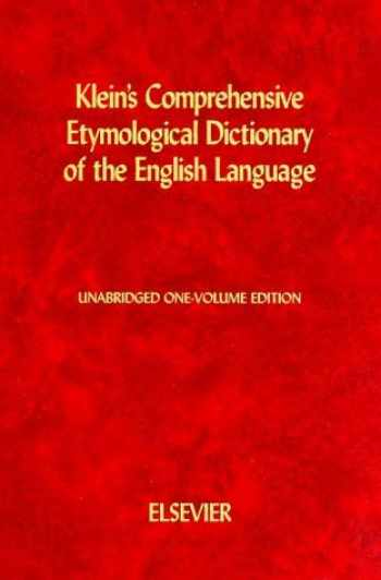 9780444409300-0444409300-Kleins Comprehensive Etymological Dictionary of the English Language