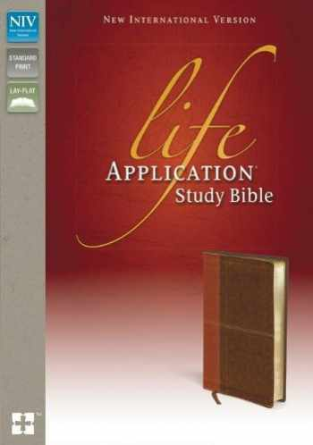 9780310434573-0310434572-NIV, Life Application Study Bible, Second Edition, Leathersoft, Tan/Brown, Red Letter Edition