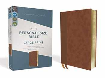 9780310454274-0310454271-NIV, Personal Size Bible, Large Print, Leathersoft, Brown, Red Letter, Comfort Print