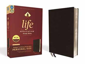 9780310452997-0310452996-NIV, Life Application Study Bible, Third Edition, Personal Size, Bonded Leather, Black, Red Letter