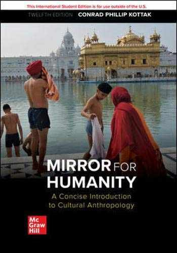 9781260565706-126056570X-ISE MIRROR HUMANITY: CONCISE INTRO CULTURAL ANTHRO