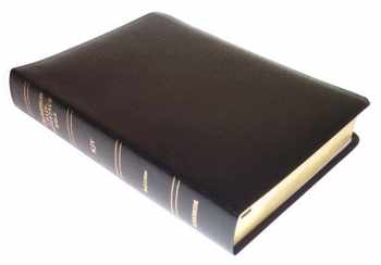 9780887073298-0887073298-KJV - Black Bonded Leather - Regular Size - Thompson Chain Reference Bible (015090)