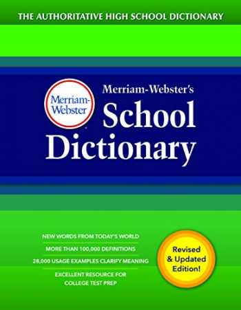 9780877797418-0877797412-Merriam-Webster's School Dictionary, New Edition, 2020 Copyright, (The Authoritative High School Dictionary)