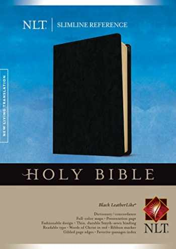 9781496436634-1496436636-Slimline Reference Bible NLT (LeatherLike, Black)