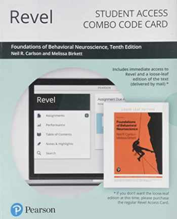 9780135192719-0135192714-Revel for Foundations of Behavioral Neuroscience -- Combo Access Card