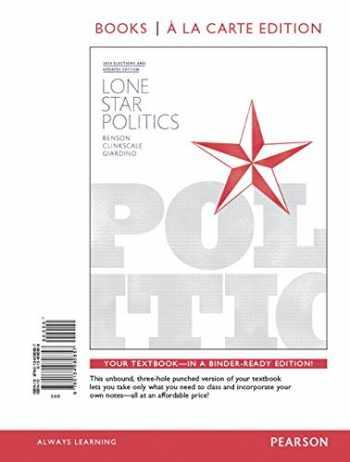 9780134149202-0134149203-Lone Star Politics, Books a la Carte Edition Plus Revel -- Access Card Package (2nd Edition)