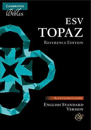 9781108702270-1108702279-ESV Topaz Reference Edition, Black Calfskin Leather, ES675:XR