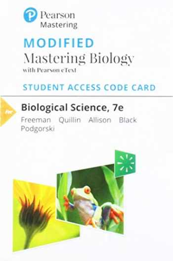 9780135276556-0135276551-Modified Mastering Biology with Pearson eText -- Standalone Access Card -- for Biological Science