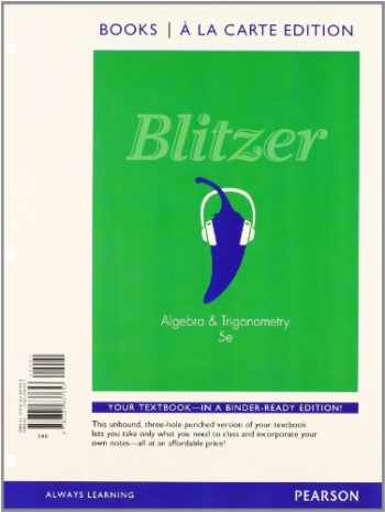 9780321869753-0321869753-Algebra and Trigonometry, Books a la Carte Edition plus MyMathLab with Pearson eText -- Access Card (5th Edition)