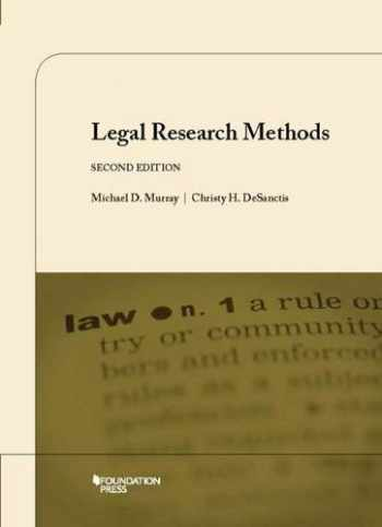 9781609302429-1609302427-Legal Research Methods, 2d (Coursebook)