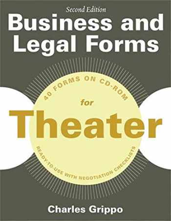 9781581159233-1581159234-Business and Legal Forms for Theater, Second Edition (Business and Legal Forms Series)