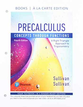 9780134856513-0134856511-Precalculus: Concepts Through Functions, A Right Triangle Approach to Trigonometry, Books a la Carte Edition plus MyLab Math with Pearson eText -- 24-Month Access Card Package