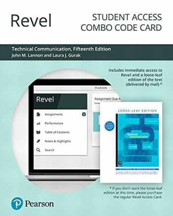 9780135259887-0135259886-Revel for Technical Communication -- Combo Access Card