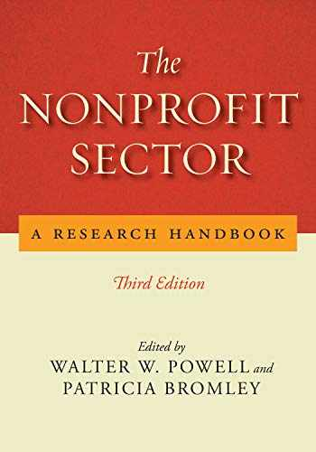 9781503608047-1503608042-The Nonprofit Sector: A Research Handbook, Third Edition