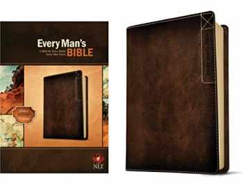 9781414381077-1414381077-Every Man's Bible: New Living Translation, Deluxe Explorer Edition (LeatherLike, Brown) – Study Bible for Men with Study Notes, Book Introductions, and 44 Charts